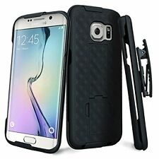 Samsung Galaxy S7 Edge Shell Holster Combo Phone Case Belt Clip Cover Kick Stand