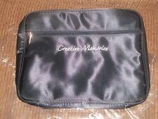 NEW CREATIVE MEMORIES Large Black LOGO COSMETIC CASE Make Up Travel Organize Bag