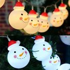 10 LED Snowman String Fairy Light Lamp Patio Christmas Xmas Party Wedding Decor*