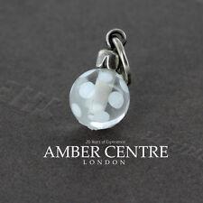 Trollbeads White Dot Charm Bauble Dangle SC63704-61 RRP£56!!!
