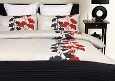 New PAXTON WIGGIN CAMDEN Taupe Black Red Silver QUEEN Size Quilt/Doona Cover Set
