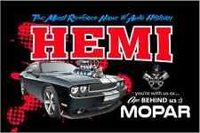 Hemi Most Revered Name Custom 2'x3' Mopar Banner