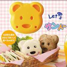 DIY Sandwich Cutter Mould Bread Toast Biscuit Cake Cubs Bear Kitchen Tool
