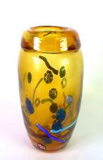 grosse 1960ies/70ies Murano Glas Vase - poppiges Design - Glaseinschmelzungen