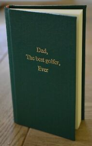 Personalised Handmade Golf Score Notebook . Your Message on Cover, 10 Colours