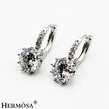 75% OFF Latest White Topaz 925 Sterling Silver Pretty Hoop Earrings 5/8'' JXK040