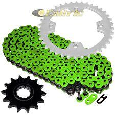 Green O-Ring Drive Chain & Sprockets Kit Fits KAWASAKI KSF450 KFX450R 2008-2014