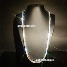 Lady 18k White Gold Filled cz Crystal Glint Cut Bridal Chain Necklace