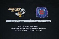 Chicago Sting Chicago Fire MLS 25th Anniversary Champions T Shirt 2XL XXL Nice