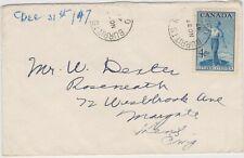 Canada  4c Citizen. BURRITTS RAPIDS, ONT. 1947