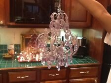 Gorgeous Chandelier with Prisms-Purple