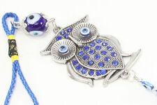 Blue Evil Eye Owl Wall & Car Hanging Amulet Protection Blessing Decor US Seller
