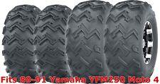 Set 4 WANDA ATV tires 22x8-10 Front & 25x12-9 Rear 89-91 Yamaha YFM250 Moto 4