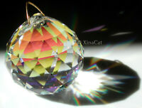 40mm Clear AB Crystal Prism Disco Ball Sphere SunCatcher Fan Pull 1.5""