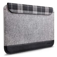 """Port Authority BG652M 14/"""" Laptop Tablet Black Plaid Neoprene Sleeve Case Cover"""