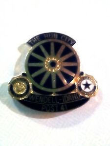 Vintage The Hub City Wendell-Idaho Post 41 American Legion Auxiliary Pin Pinback