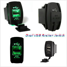 ARB Rocker Switch Carling Backlit Dual Green LED 12V-24V Car Boat USB Charger
