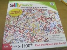 "SILLY BANDZ 100 PIECE PUZZLE 10"" x 13"" AGES 5+ INCLUDES 5 SILLY BANDZ NEW"