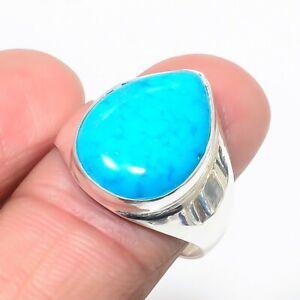 Sleeping Beauty Turquoise Handmade 925 Sterling Silver Ring 9 KR-8265