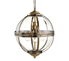 Firstlight Mayfair Pendant - Antique Brass wih Clear Glass 3413AB