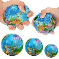 Anti-Stress Earth Map Globe Ball Reliever Squeeze Sensory Toys Novelty Education