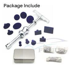 Paintless dent repair tool Bump dent Puller Lifter T-Bar + 12 Tabs  + Cold glue