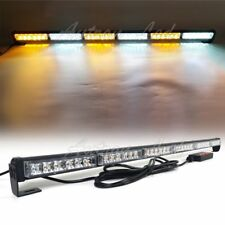 "38"" LED Strobe Light Bar Emergency Traffic Adviser Warning Tow Truck Amber White"