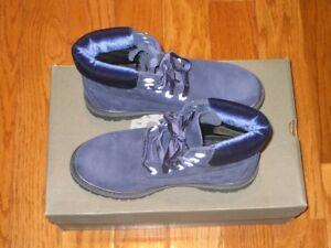 "New Timberland Women 6"" Premium Boot Tb0A1kC5 Dark Blue 6M 6.5M"