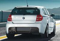 Echt Carbon Diffusor Heckschürze 2 Rohr für BMW 1er E87 M Paket Performance