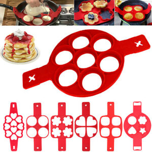 Silicone Non Stick Pancake Maker Mould Cooking Egg Omelette Mold Tool Flip Ring