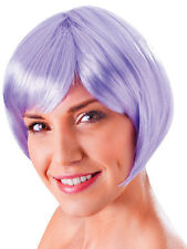 Ladies Lilac Flirty Flick 20s Flapper Style Short Bob Wig Fancy Dress Accessory