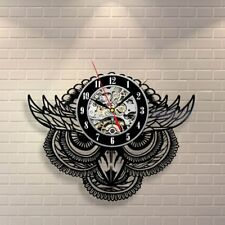 Owl Night Bird Retro Vinyl Record Wall Clock Vintage Children Room Art