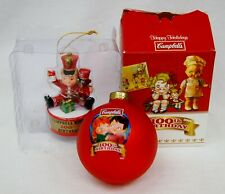 Lot of 2 Campbell's Soup 100th Anniversary Christmas Ornaments New in Box B0941