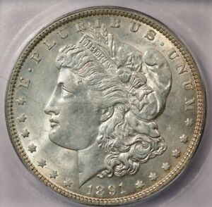 1891-P 1891 Morgan Dollar ICG AU55 beautiful and lustrous!