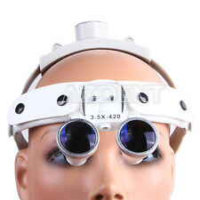 New Dental Surgical Medical Headband Binocular Loupes /Magnifier 3.5X White