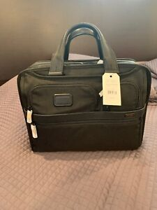 Tumi Alpha Black Balistic Nylon Men's Briefcase Laptop Expandable NWT $455
