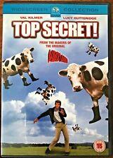 Top Secret DVD 1984 Cult Spy Comedy Spoof Classic w/ Val Kilmer + Peter Cushing