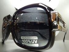 OVERSIZE CLASSIC RETRO 80's VINTAGE Style SUN GLASSES Thick Black & Silver Frame