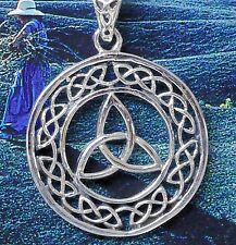 keltischer Anhänger 925Silber Mittelalter Triquetta Wicca Triquetra Druide Triad