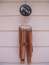 Carved Wood Double Dragonflies Dragonfly Bamboo Wind Chimes FREE SHIP