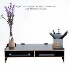 Office Wood Desk Organizer Storage Computer Monitor Stand Riser Desktop Tray  CO