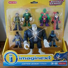 Fisher Price Imaginext DC JUSTICE LEAGUE 7-Pack Ages3-8 BRAND NEW!!
