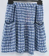 SUPERDRY Women's IBIZA Printed Skirt, Tribal Geo White/Blue, size S