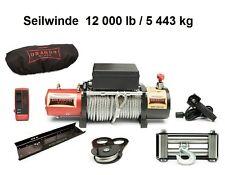Elektrowinde 12000lbs 5443kg 12V Funkfernbedienung LKW Motorwinde Montageplatte