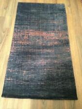 LOUIS DE POORTERE Mad Men SOHO Flat Woven Jacquard RUG 150 x 80 Black Copper NEW