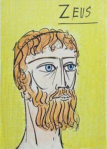 Buffet Bernard: Zeus - Lithography Original - Referenced, 1967