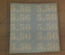 0056      5.56      (10) Mag decals - sticker AR15 magazine S&W sticker