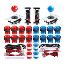 Qenker 2 Player LED Arcade DIY Parts 2X USB Encoder + 2X Joystick + 20x LED for