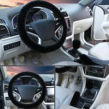 Warm Plush Steering Wheel Cover Kit Winter Furry Fluffy Soft Plush Car Wheel BM