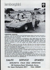 Lamborghini 1976-77 UK Market Foldout Brochure Urraco Silhouette Espada Countach